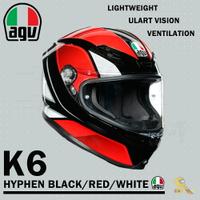 任我行騎士部品 AGV K6 極輕量化 通風 舒適 全新設計 全罩式安全帽 HYPHEN 黑紅白 K-6