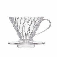 【三山咖啡】HARIO 錐形V60透明樹脂濾杯 附咖啡匙 VD-01T/VD-02T/VD-03T