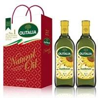 【Olitalia奧利塔】葵花油禮盒組(1000ml x2瓶)