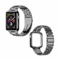 MioHHR 不銹鋼錶帶 42/44mm 適用Apple Watch Series 6/SE/5/4/3/2/1型 黑/玫瑰金/灰/銀 [9美國直購]