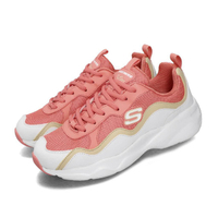 SKECHERS【88888201WCRL】D'LITES 老爹鞋 休閒鞋 記憶鞋墊 白粉橘 女生尺寸