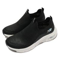 【SKECHERS】休閒鞋 Arch Fit-Keep It Up 女鞋 專利鞋墊 郊遊 健走 回彈 避震 舒壓 黑 白(149415BKW)