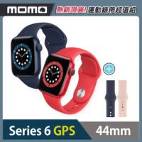 運動錶帶超值組【Apple 蘋果】Apple Watch Series6(S6) GPS 44mm 鋁金屬錶殼搭配運動錶帶