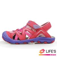 LOTTO樂得-義大利第一品牌 童款護趾運動涼鞋 [1823] 粉【巷子屋】