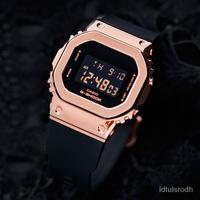 CASIO卡西歐G-SHOCK玫瑰金女士手錶小方錶GM-S5600PG-1/4/SB/SK-7 xr52