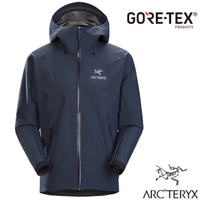 【加拿大 ARCTERYX 始祖鳥】男款 Beta LT Gore-Tex 防風防水透氣連帽外套(僅395g)幸運藍