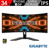 【GIGABYTE 技嘉】技嘉 G34WQC 34型 144Hz 1ms HDR400 曲面電競螢幕(G34WQC)