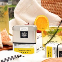 【samova 歐洲時尚茶飲】有機蘋果花茶/水果茶/無咖啡因/Garden Party 花園派對(Tea Tin Mini系列)