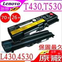 LENOVO 電池(原廠)-聯想 L430電池,L512,L530,W530電池,L421,L521,E425,T430,T530,Edge 14吋 05785HV,70+
