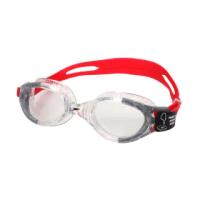 【SPEEDO】FUTURA BIOFUSE 成人運動泳鏡-抗UV 蛙鏡 游泳 透明紅黑(SD811313B991N)