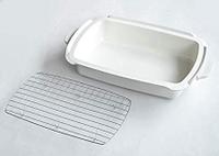 日本電烤盤  陶瓷深鍋連蒸架 白色深鍋 附送不銹鋼蒸架 Bruno BOE026-DPOT 加大版方便製作各類蒸物