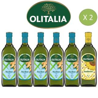 【Olitalia奧利塔】玄米油x10+葵花油x2(1000mlx 12 瓶-禮盒組)