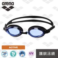 【arena】日本製 泳鏡 原裝進口 大框高清 護眼 泳鏡 男女通用 防水防霧(AGL9500)