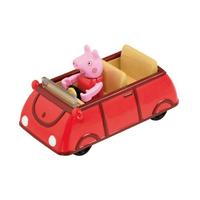 TOMICA 騎乘系列 粉紅豬小妹 佩佩豬 x 家庭車紅 【鯊玩具Toy Shark】