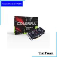 Colorful GeForce GTX1650 4GD6 GeForce® GTX 1650 12nm 4G GDDR6 128bit 75W DVI HDMI DP Support AMD Intel Desktop CPU Motherboard
