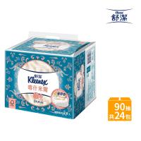 【Kleenex 舒潔】頂級四層喀什米爾抽取衛生紙 90抽x6包4串/箱