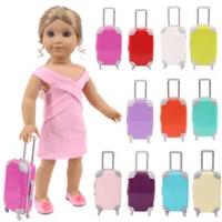 ตุ๊กตากระเป๋าเดินทาง14ชนิดMonochromeกระเป๋าเดินทาง18นิ้วตุ๊กตาอเมริกันและ43 Baby New Bornตุ๊กตา,รุ่นของเรา,...