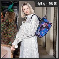 【KIPLING】Kipling x ANNA SUI 搖滾冬青羽蝶印花手提側背包-ART MINI