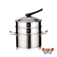 固鋼 蒸健康304不鏽鋼湯鍋24cm雙層蒸籠組【蝦皮團購】