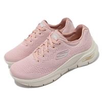 【SKECHERS】慢跑鞋 Arch Fit-Big Appeal 女鞋 專利鞋墊 郊遊 健走 回彈 避震 舒壓 粉 米(149057LTPK)
