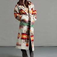 Novel пальто Women fur coat Vintage Print Loose Fashion Warm Coat Jacket faux fur coat for Women abrigos mujer invierno 2020