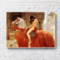 Lady Godiva by John Collie Nude Woman Canvas Painting Posters and Prints Scandinavian Wall Pop Art Picture for living Room Decor