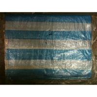 帆布 10X10 尺 藍白條帆布 藍白帆布 防水布 塑膠布 搭棚架 工程防水遮蔽用