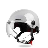 野馬3c認證電動摩托車頭盔男女夏季防曬機車哈雷半盔灰個性安全帽1愛尚優品
