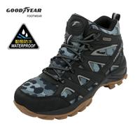 【GOODYEAR 固特異】登山健行鞋/男 戶外 郊山 動態防水 耐磨 高筒 黑色(戰術靴GAMO03540)