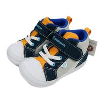 (BZ) MOONSTAR 寶寶鞋 機能童鞋 2E寬楦 學步鞋 帆布鞋 軟底 MSCNB2473灰藍橘【陽光樂活】