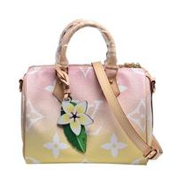 【Louis Vuitton 路易威登】M45724經典SPEEDY BANDOULI☆RE 25手提/斜背波士頓包