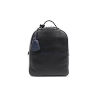 【agnes b.】Voyage 荔枝牛皮刺繡 logo後背包(黑)