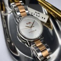 【COACH】COACH蔻馳女錶型號CH00005(銀白色錶面銀錶殼金銀色精鋼錶帶款)