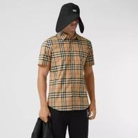 BURBERRY 格紋短袖襯衫 男款 尺寸XS S M L XL 限時優惠10200/件 台灣專櫃14200