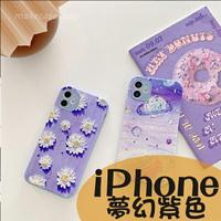 紫色夢幻色彩|蘋果 iPhone 12 Pro i12 Pro max iPhone 11 Pro max  簡約 卡通動物軟殼 鏡頭精準孔 浮雕小羊皮 手機掛繩孔  保護殼