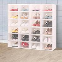 加厚鞋盒收納盒透明抽屜式鞋子塑膠鞋箱鞋櫃鞋簡易鞋架