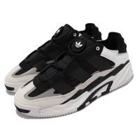 【adidas 愛迪達】休閒鞋 Niteball 反光 運動 男女鞋 愛迪達 輕量 避震 透氣 情侶穿搭 黑 白(H67360)