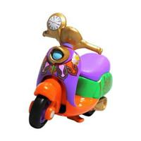 小禮堂 迪士尼 愛麗絲 魔鏡夢遊 TOMICA多美小汽車 摩托車 玩具車 模型 兒童玩具 (橘紫)