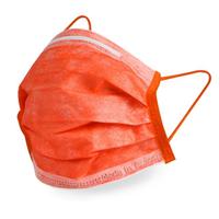 【GRANDE 格安德】醫用口罩50入 雙鋼印彩色口罩 台灣製造 MIT(平面成人口罩 番茄橘色)