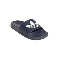 【adidas 愛迪達】ORIGINALS 男 女 拖鞋 ADILETTE LITE 深藍 三葉草(FU8299)