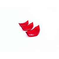 【VESPA】PROJECTA 衝刺 春天 PAS 透明系列 喇叭飾蓋 三套件組 紅款