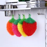 韓國正品草莓不粘油洗碗巾洗碗布去污刷百潔布廚房抹布