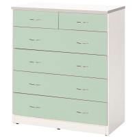 【C971-08】五層塑鋼衣櫃(綠、白色)