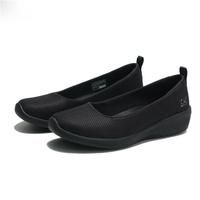 【滿千折百優惠開跑】SKECHERS 休閒鞋 ARYA DALY LUSTER 全黑 網布 娃娃鞋 女 (布魯克林) 104114BBK