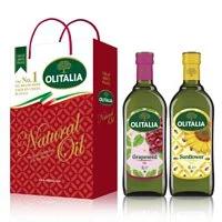【Olitalia奧利塔】葡萄籽油+葵花油禮盒組(1000mlx2瓶)