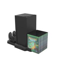 Xbox Series X主機散熱底座+手柄充電座充+遊戲光盤收納架 KJH [現貨]