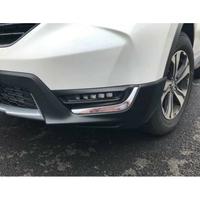 17-18全新CRV5前霧燈眉鍍鉻飾條 HONDA CR-V 5代改裝飾條(2件組)