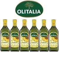 【Olitalia奧利塔】超值葵花油禮盒組(1000ml x 6瓶)