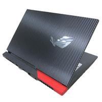 【Ezstick】ASUS ROG Strix G15 G513 G513QM 黑色卡夢紋機身貼(含上蓋貼、鍵盤週圍貼)