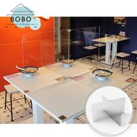 【撥撥的架子】現貨 防疫用品學生課桌隔板 防飛沫透明隔板 餐廳隔板 小吃店隔板(十型四人款-2mm)